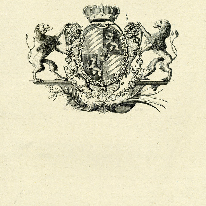 Download Coat of arms whith lions stock illustration. Image of arms - 16935822