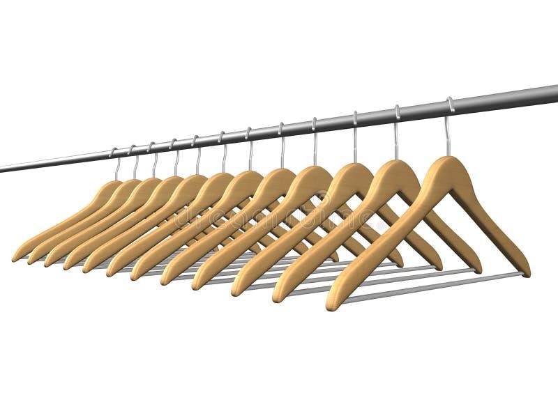 Download Coat hanger stock illustration. Illustration of accessory - 3235801