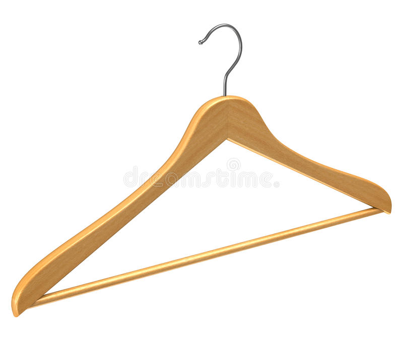 Download Coat Hanger Isolated On White Stock Photos - Image: 18647443