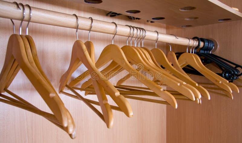 Coat hangers stock photos