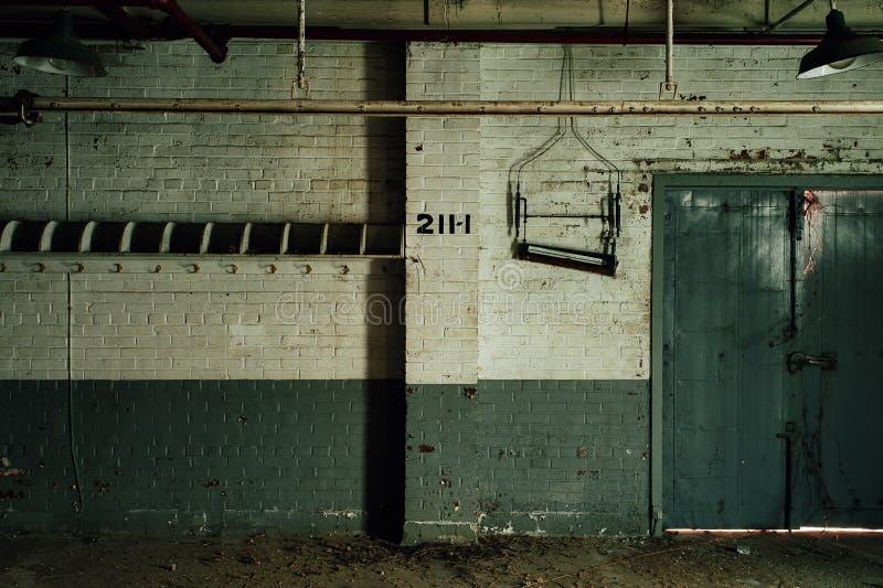 Coat Hooks - Horizontal Press House - Abandoned Indiana Army Ammunition Depot - Indiana stock photo