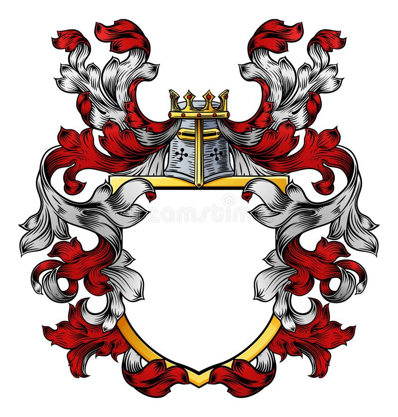 Free Coat Of Arms Crest Knight Family Heraldic Shield Royalty Free Stock Images - 140654429