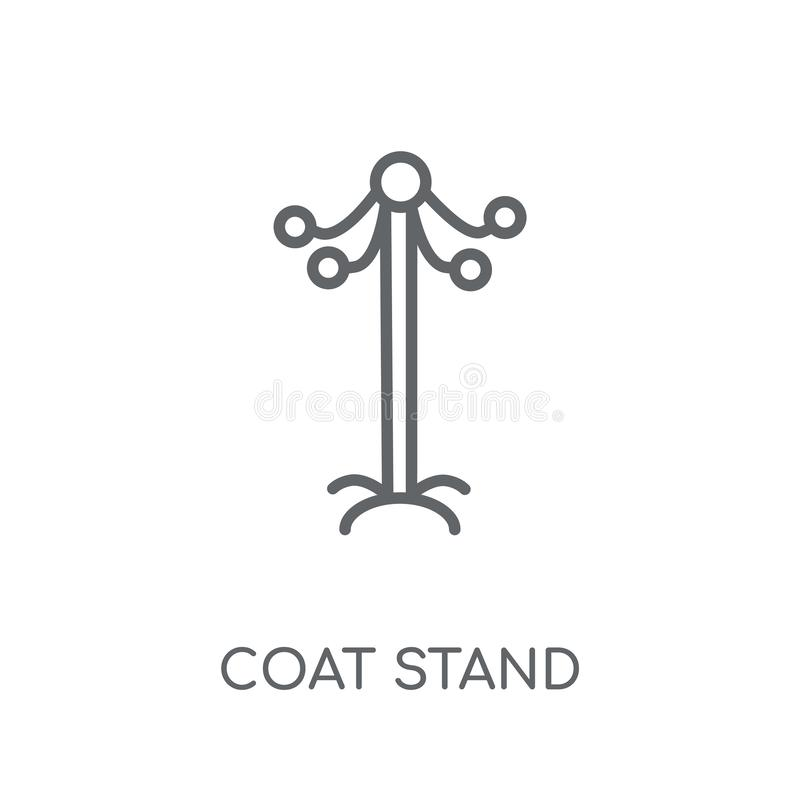 Coat stand linear icon. Modern outline Coat stand logo concept o vector illustration