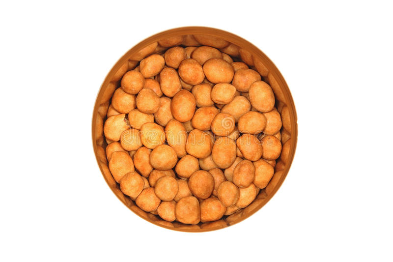 Coated peanut stock image