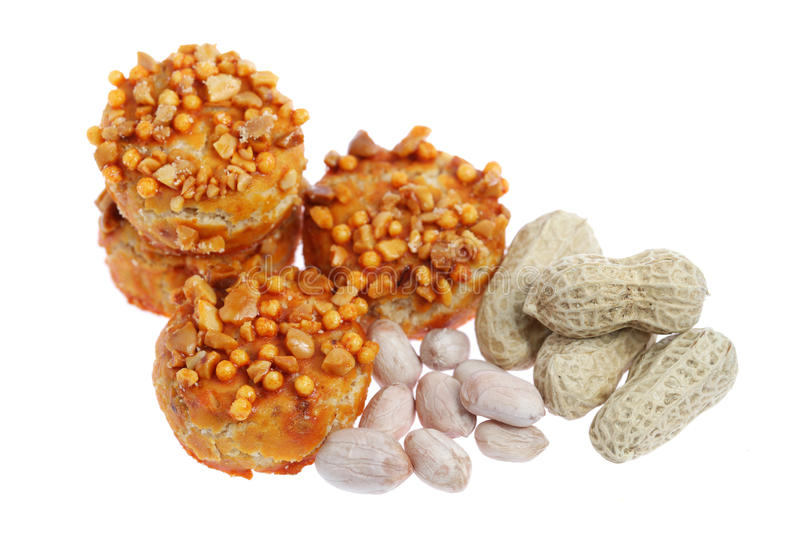 Download Coated Peanut Cookie stock image. Image of coated, four - 20405845