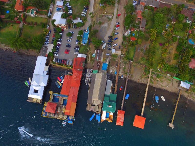 Coatepeque jezioro obrazy stock