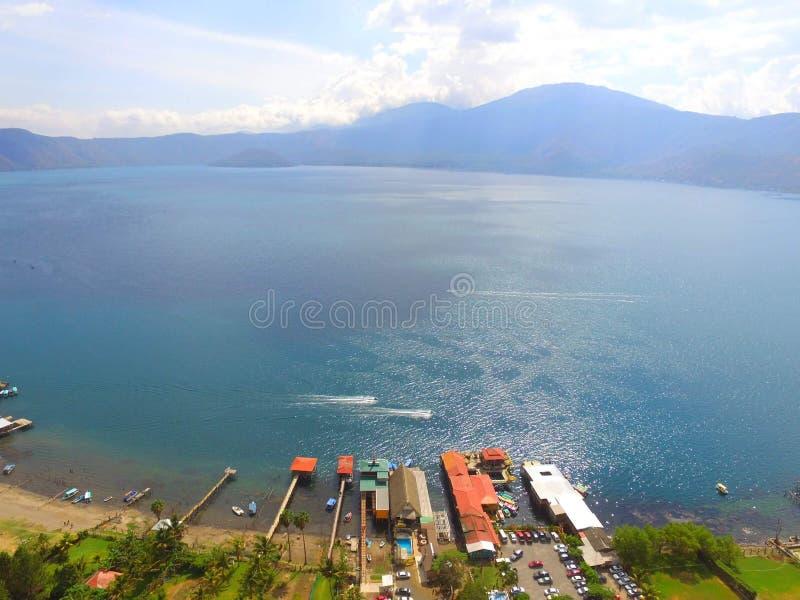 Coatepeque jezioro obraz royalty free