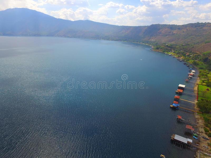 Coatepeque jezioro zdjęcie royalty free