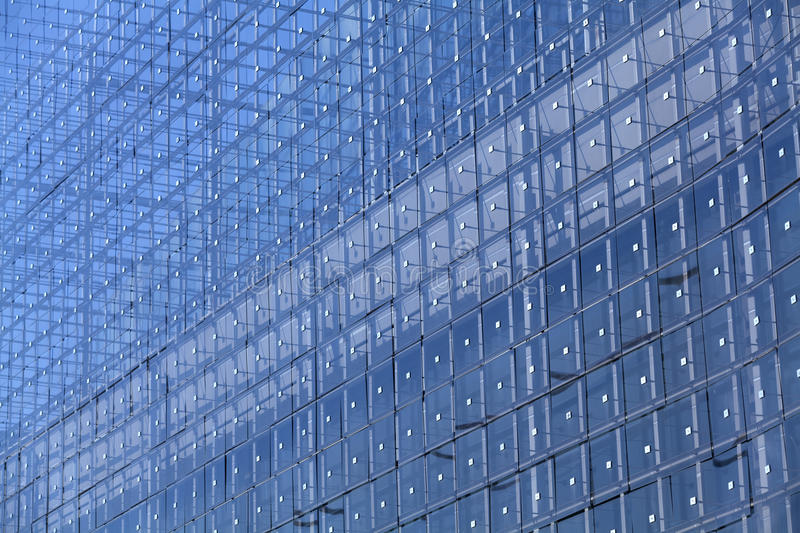 Coating of building with glass royalty free stock photo