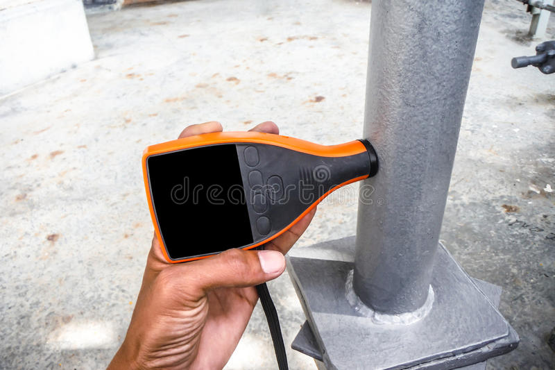 Coating thickness gauge royalty free stock image