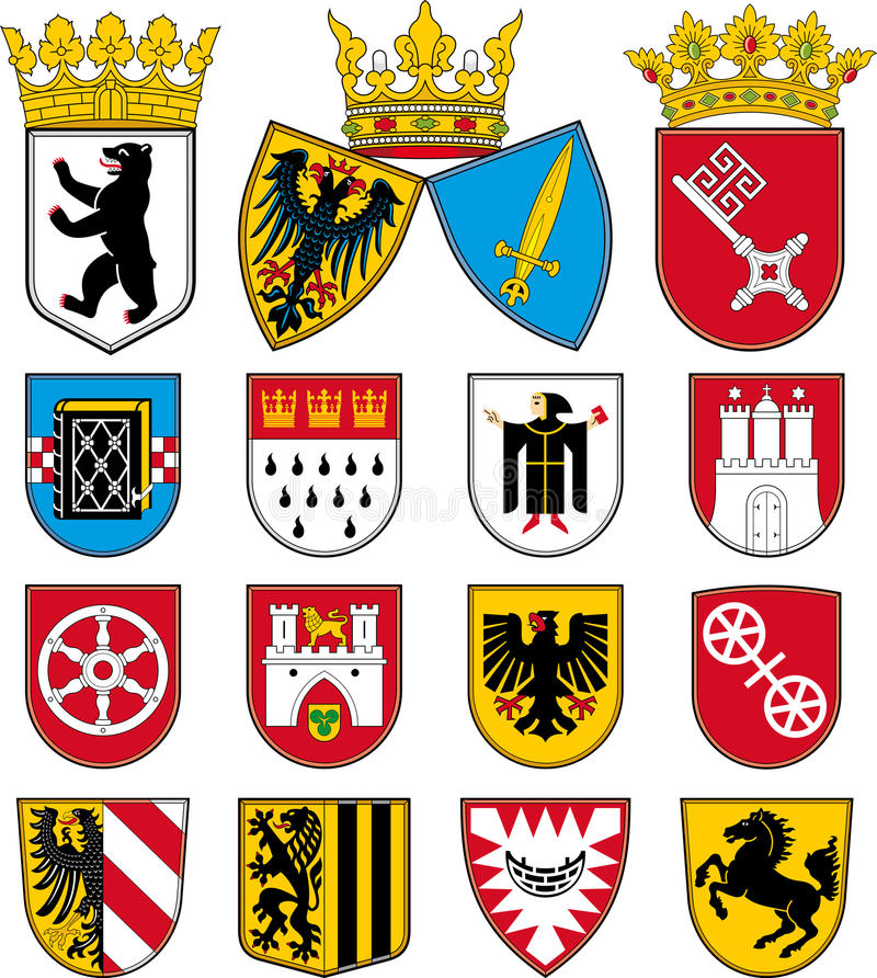 Download Coats Of Arms Of Cities In Germany Stock Vector - Image: 28398230