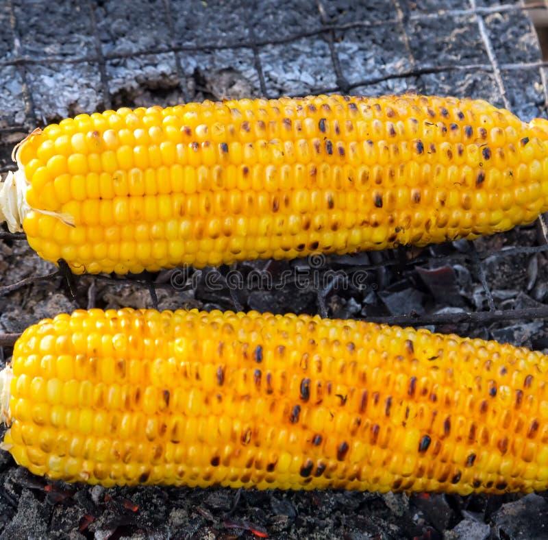 cob kukurudza piec na grillu zdjęcie stock