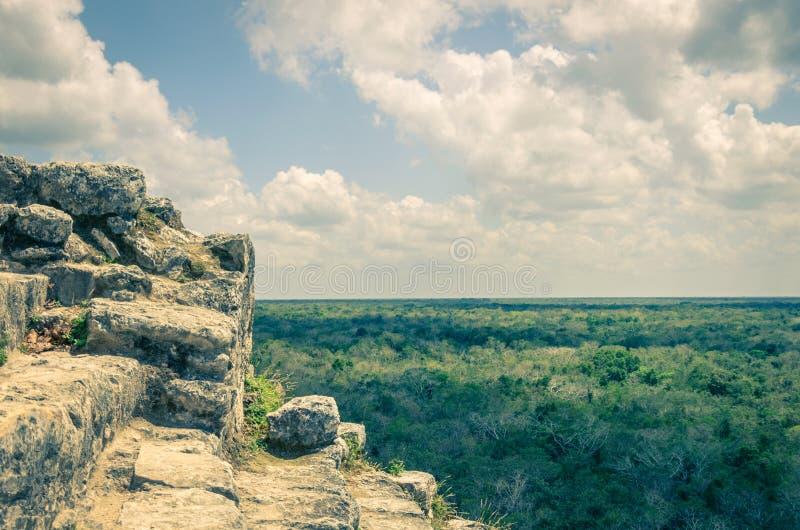 Coba-Pyramide, Yucatan stockbilder