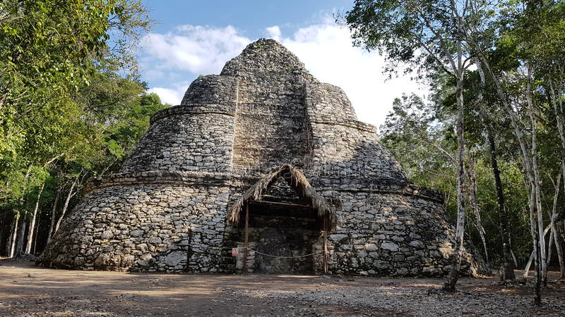 The Coba ruins royalty free stock photos