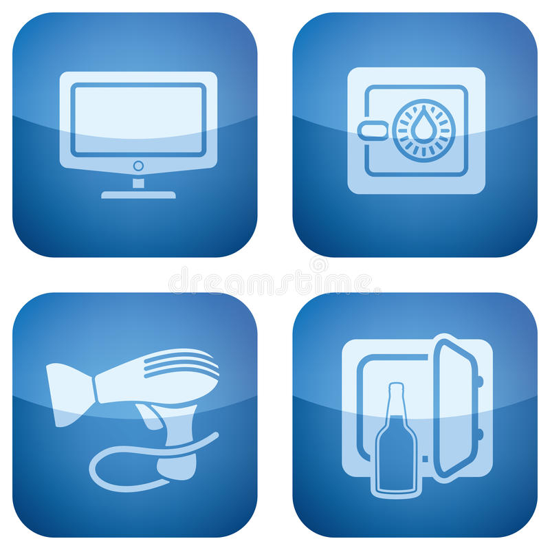Download Cobalt 2D Squared Icons Set: Hotel Stock Vector - Image: 14124485