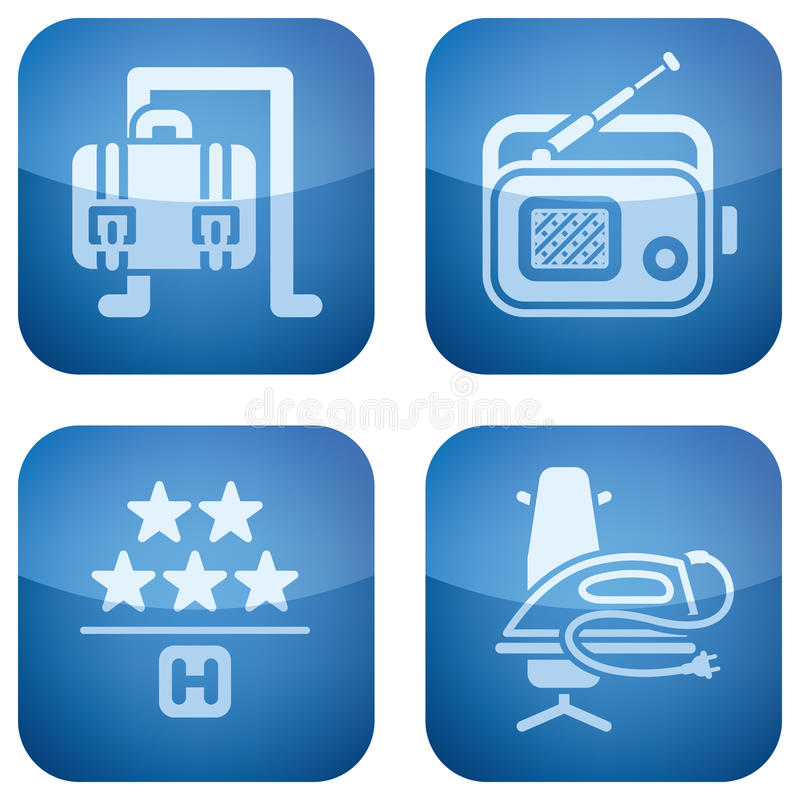 Download Cobalt 2D Squared Icons Set: Hotel Stock Vector - Image: 14124498