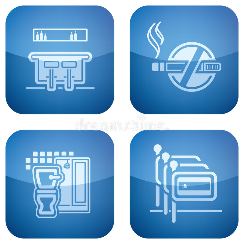 Download Cobalt 2D Squared Icons Set: Hotel Royalty Free Stock Photography - Image: 14126017