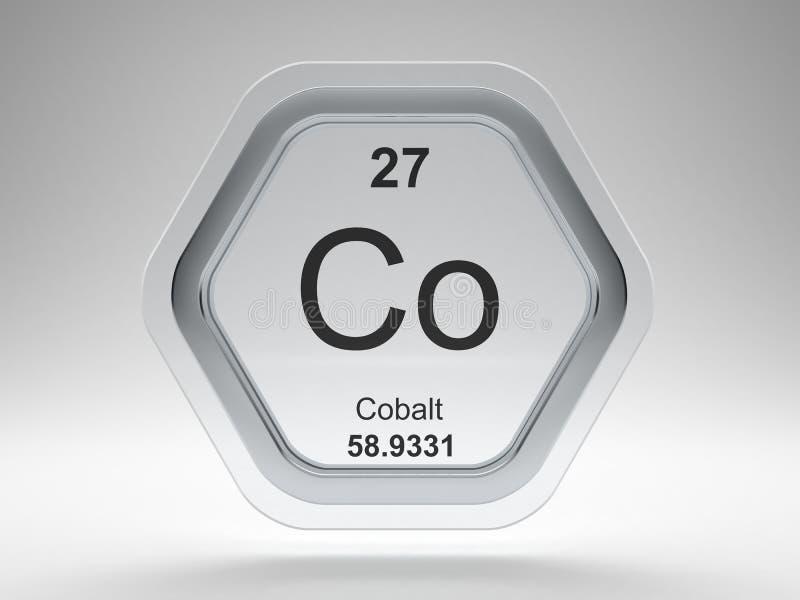 Cobalt symbol hexagon frame stock illustration