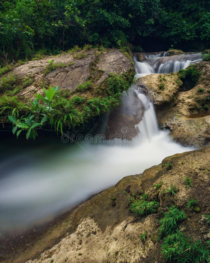 Coban Kedung Darmo. Is a waterfall Malang City on February 2018 royalty free stock images