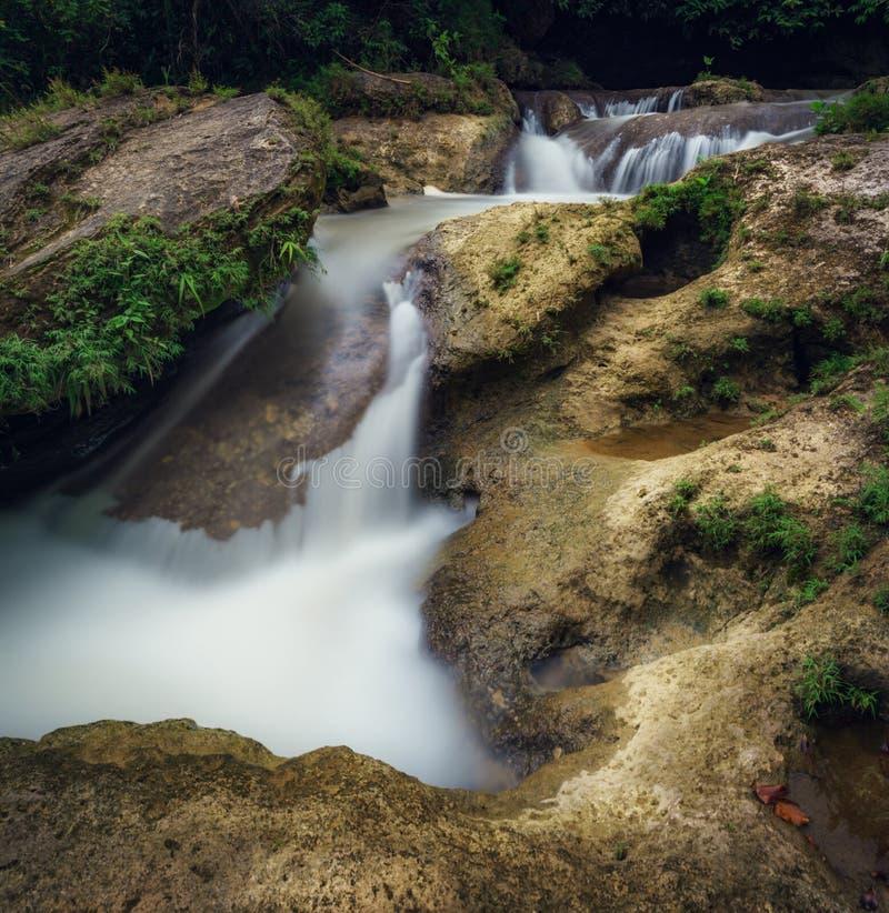 Coban Kedung Darmo. Is a waterfall Malang City on February 2018 stock photo