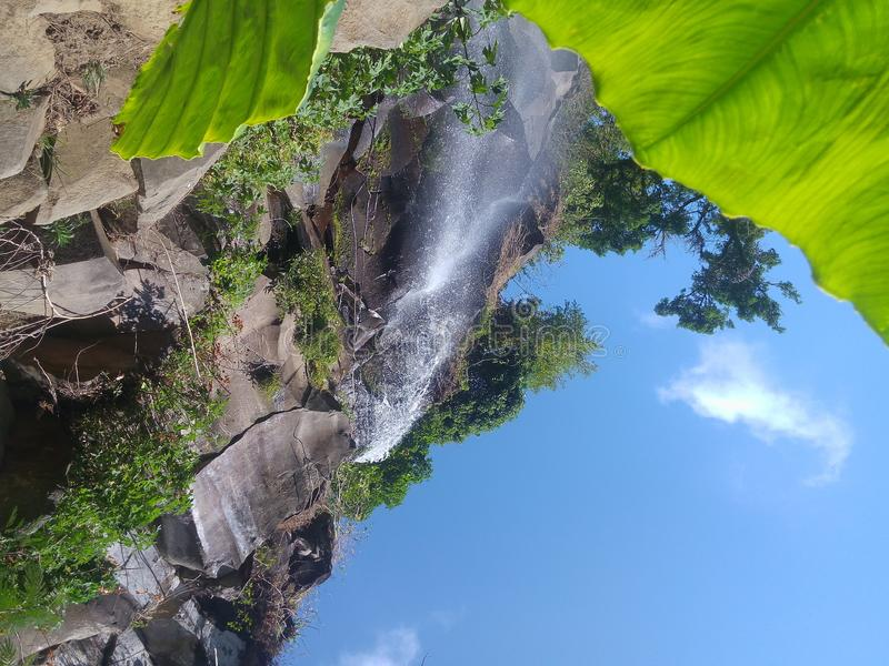 Waterfall on Coban Putri Malang East Java Indonesia. Coban Putri Waterfall is one of the unspoiled waterfalls in Malang, East Java. The location of the waterfall royalty free stock photos