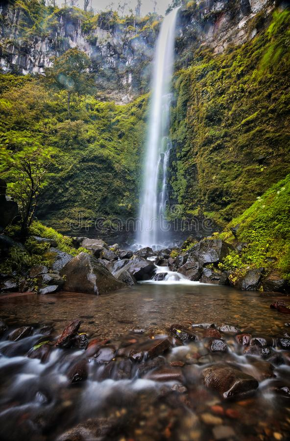 Coban Rondo Waterfall EastJava. Coban Rondo Waterfall, located on Batu Malang , East Java royalty free stock photography