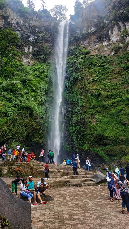 Coban rondo waterfall in malang east java, indonesia. En stock photos