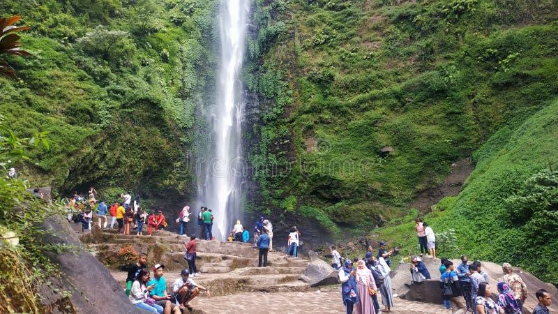 Coban rondo waterfall in malang east java, indonesia. En stock images