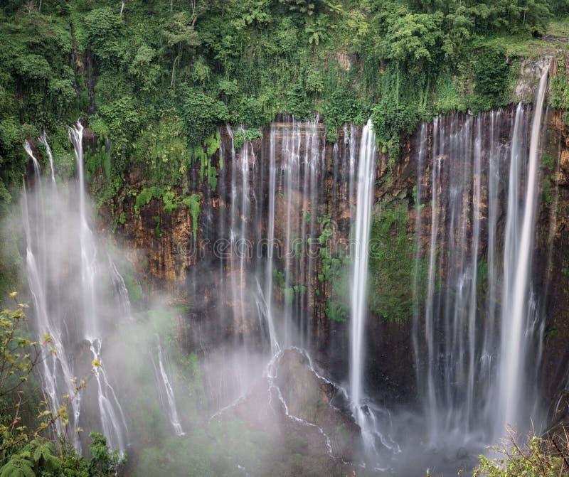 Coban Tumpak Sewu around Bromo Mountain in East Java. Indonesia royalty free stock photography