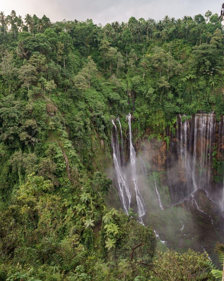 Coban Tumpak Sewu around Bromo Mountain in East Java. Indonesia royalty free stock image
