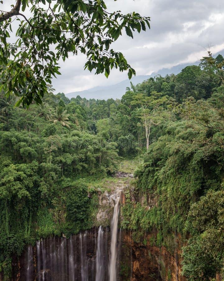 Coban Tumpak Sewu around Bromo Mountain in East Java. Indonesia stock photos