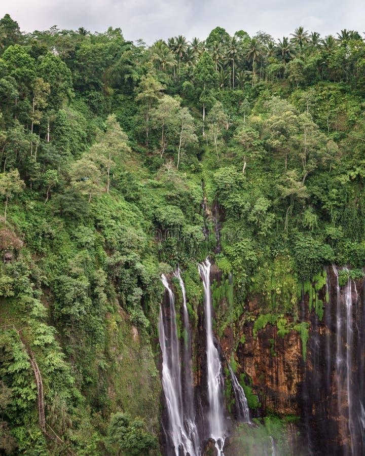 Coban Tumpak Sewu around Bromo Mountain in East Java. Indonesia royalty free stock images