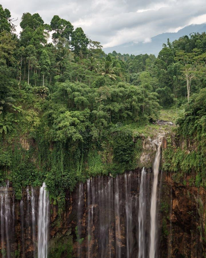 Coban Tumpak Sewu around Bromo Mountain in East Java stock image