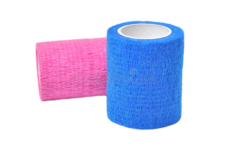 Coban. Used to prevent injury caused by sport exercise or use of the joints or parts royalty free stock image