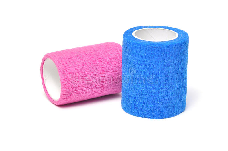Coban. Used to prevent injury caused by sport exercise or use of the joints or parts stock images