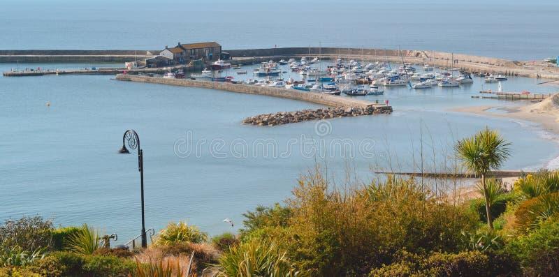 Cobb in Lyme Regis lizenzfreies stockbild
