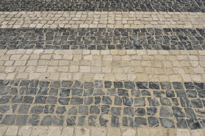 Cobble crosswalk. In the city of Coimbra, Portugal stock image