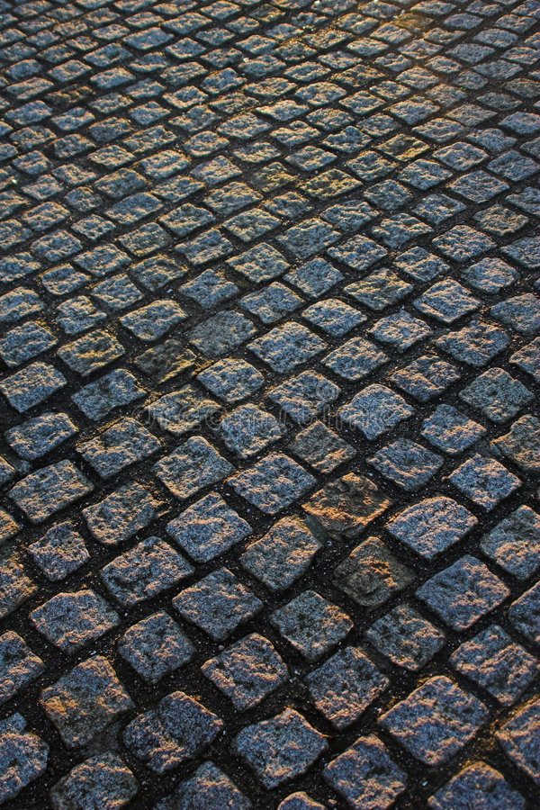 Download Cobble paving stock image. Image of hard, sidewalk, pavement - 469929