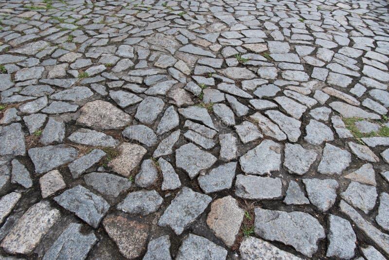 Cobble steenvloer op stoep royalty-vrije stock afbeeldingen
