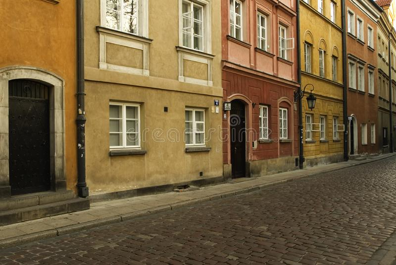 Cobble stone street stock photo