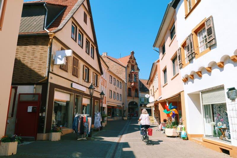 Cobble Straten in Duitsland royalty-vrije stock foto