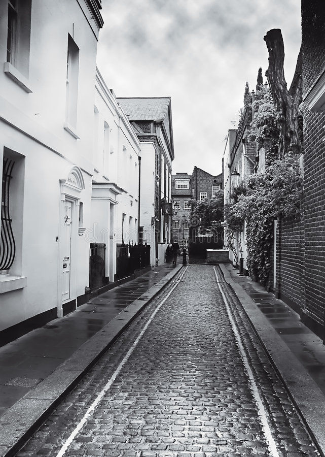 Download Cobbled London Mews Stock Photo - Image: 5222930