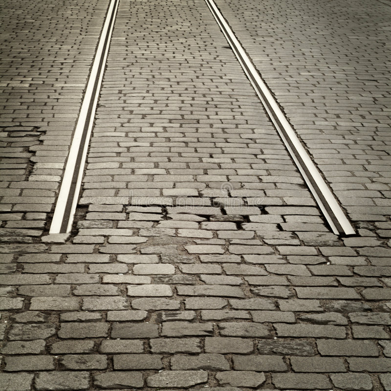 Download Cobbled road stock image. Image of beginning, grey, square - 506843