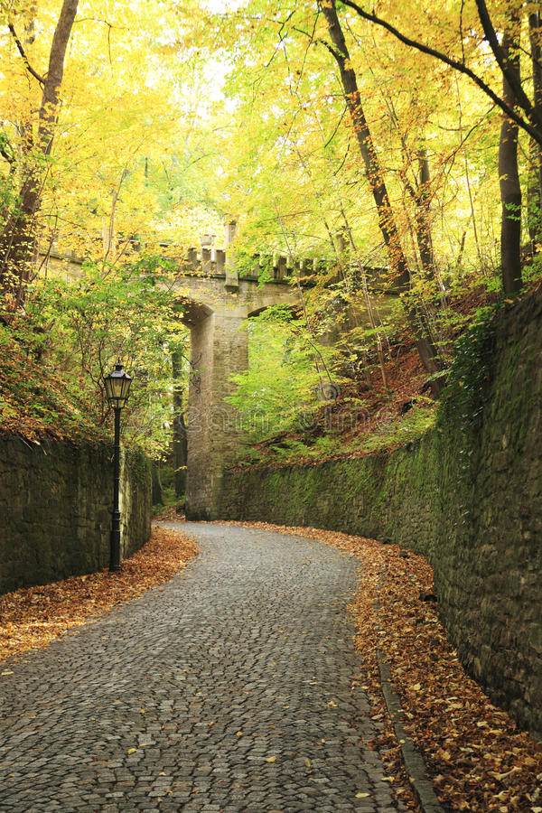 Cobbled Road In Countryside Royalty Free Stock Photos