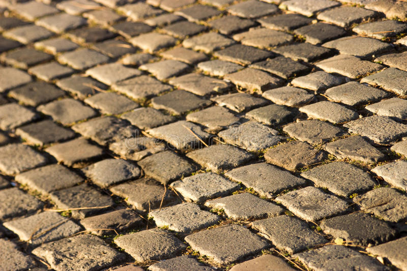 Cobbled stones royalty free stock images