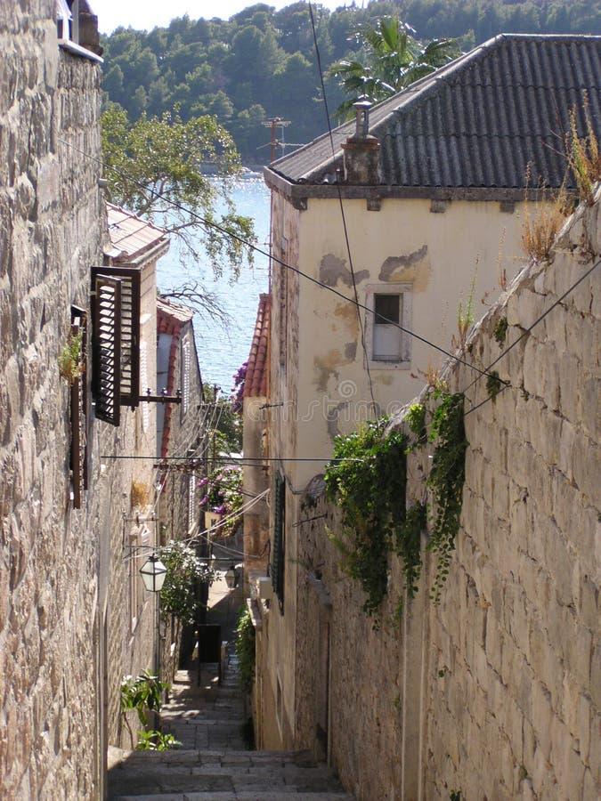 Cobbled Street (Croatia) royalty free stock image