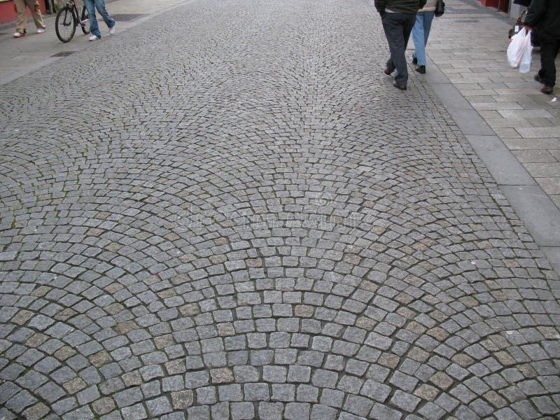 cobbledstoned ulica obraz stock