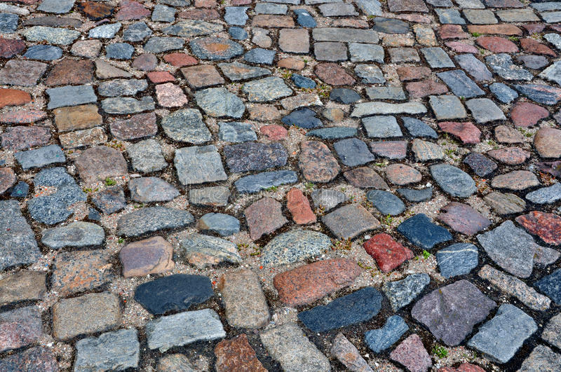 Cobbles. On the city space royalty free stock photography