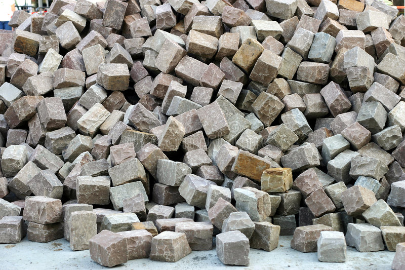 Download Cobbles heap stock photo. Image of cobbles, outdoor, building - 1286728