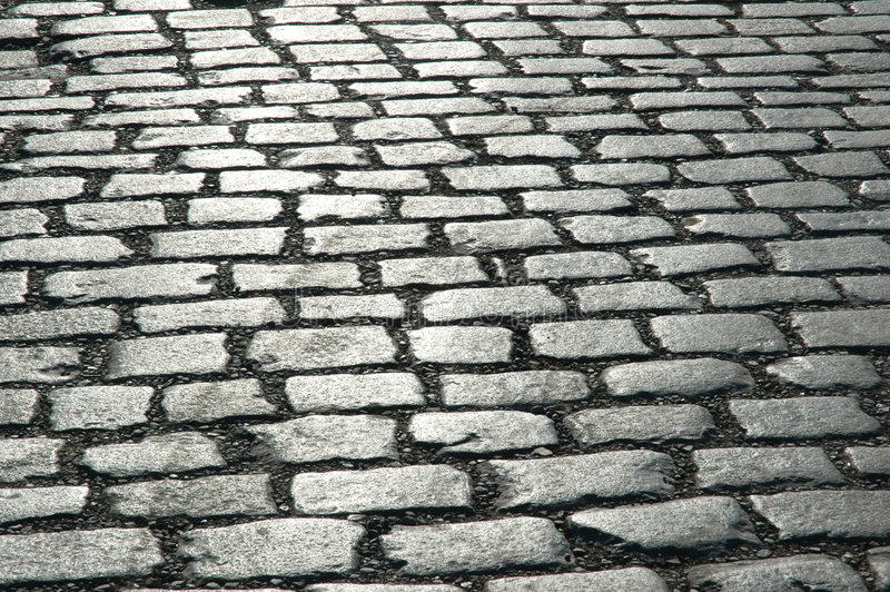 Cobbles on the street -. Can be used as background stock photos